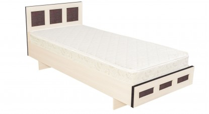 Односпальная кровать КР-017 M1 (дуб девон)