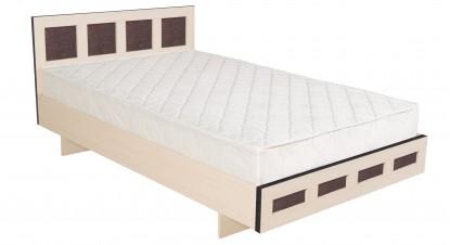 Двуспальная кровать КР-017 M1 (дуб девон)